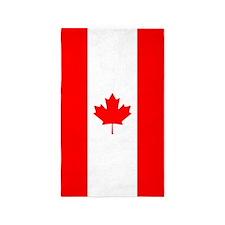 Canadian Flag 3'x5' Area Rug