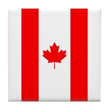 Canadian Flag Tile Coaster
