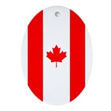 Canadian Flag Ornament (Oval)