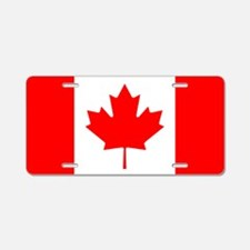 Canadian Flag Aluminum License Plate