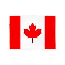 Canadian Flag 5'x7'Area Rug