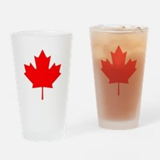 Canadian Maple Leaf Drinking Glass