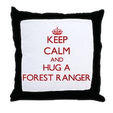 Keep Calm and Hug a Forest Ranger Throw Pillow