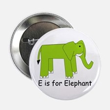 """E is for Elephant 2.25"""" Button"""