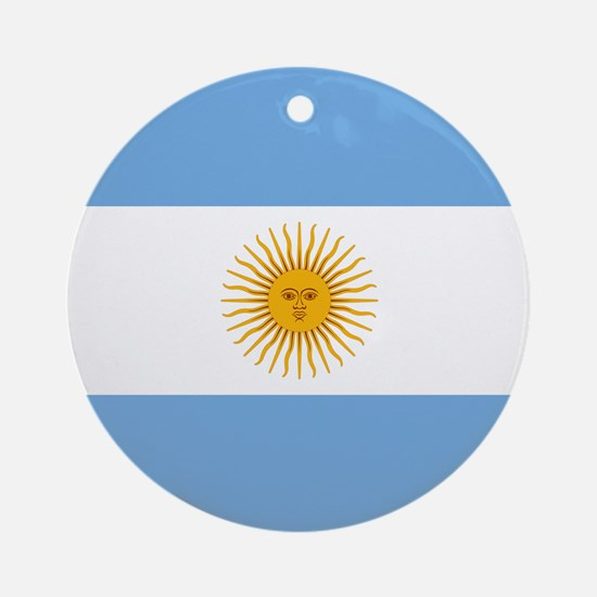 Argentinian Flag Ornament (Round)