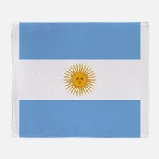 Argentinian Flag Throw Blanket