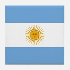 Argentinian Flag Tile Coaster