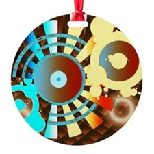 Chocolate Sounds Abstract  Ornament