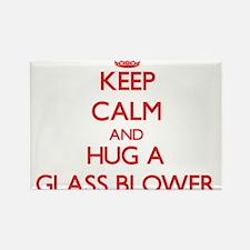 Keep Calm and Hug a Glass Blower Magnets