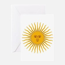 Argentinian Sun of May Greeting Cards