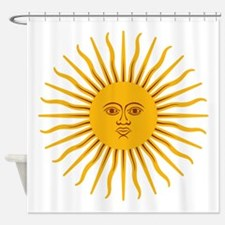 Argentinian Sun of May Shower Curtain