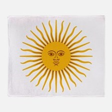 Argentinian Sun of May Throw Blanket
