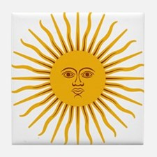 Argentinian Sun of May Tile Coaster