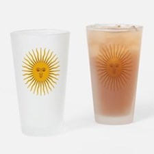 Argentinian Sun of May Drinking Glass