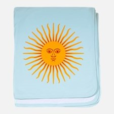 Argentinian Sun of May baby blanket