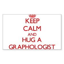 Keep Calm and Hug a Graphologist Decal