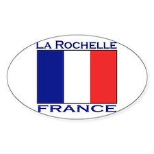 La Rochelle, France Oval Decal