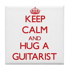 Keep Calm and Hug a Guitarist Tile Coaster