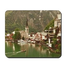 Austrian lakeside village of Hallstatt Mousepad