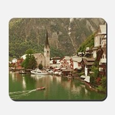 Austrian lakeside village of Hallstatt Mousepad