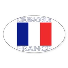 Grenoble, France Oval Decal