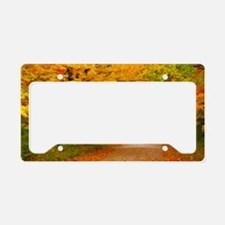 Autumn landscape of trees  in License Plate Holder