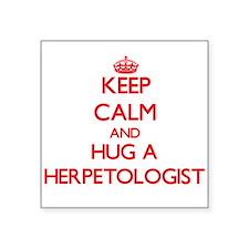 Keep Calm and Hug a Herpetologist Sticker