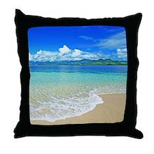 Beach and Sea Throw Pillow