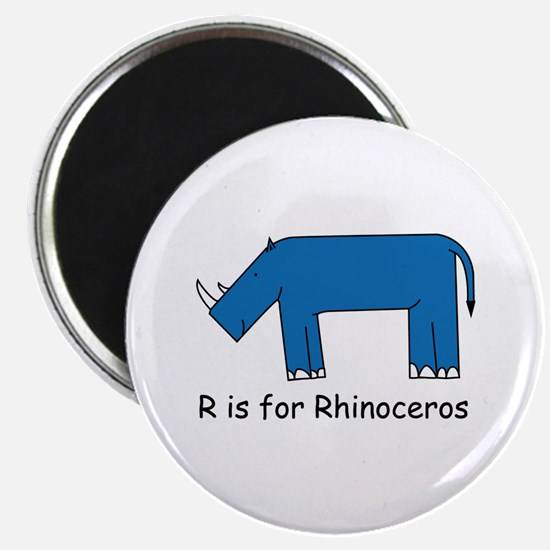 R is for Rhino Magnet