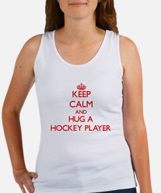 Keep Calm and Hug a Hockey Player Tank Top