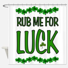 LUCKY SHAMROCKS Shower Curtain