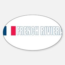 French Riviera Oval Decal