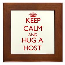 Keep Calm and Hug a Host Framed Tile