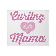 Curling Mama Throw Blanket