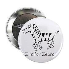 "Z is for Zebra 2.25"" Button"