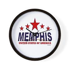 Memphis U.S.A. Wall Clock