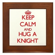 Keep Calm and Hug a Knight Framed Tile