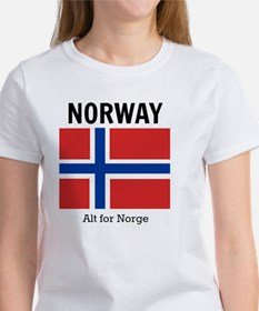 Norway Flag and Motto Tee