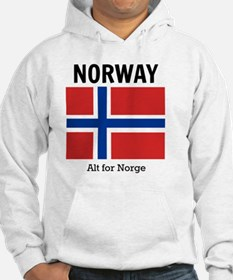 Norway Flag and Motto Hoodie