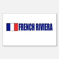 French Riviera Rectangle Decal