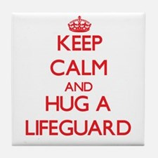 Keep Calm and Hug a Lifeguard Tile Coaster