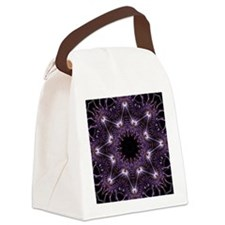 Fractal Purple Star Canvas Lunch Bag