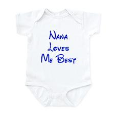 Nana Loves Me Best Blue Onesie
