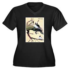Bufflehead Duck Bird (Front) Women's Plus Size V-N