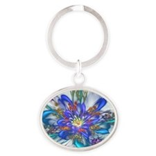 Thinking of Spring Oval Keychain