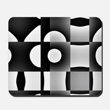 Black And White Abstract Geometry Mousepad