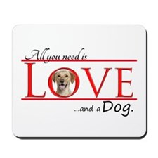 Love a Yellow Lab Mousepad