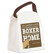 A Home for Every Boxer Canvas Lunch Bag