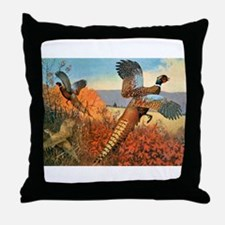 Pheasant Bird Throw Pillow