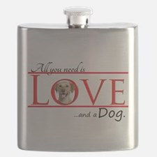 Love a Yellow Lab Flask